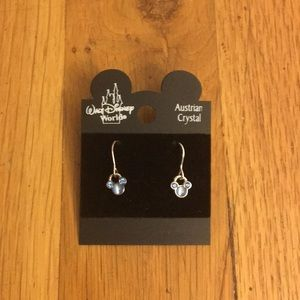 NWOT Blue Crystal Mickey Mouse Earings